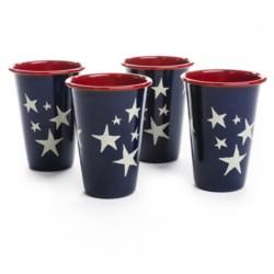 Crow Canyon Patriotic Tumblers - Set of 4, Enamelware, 12 fl.oz.