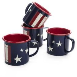 Crow Canyon Patriotic Mugs - Set of 4, Enamelware, 12 fl. oz.
