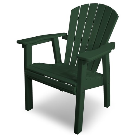 Polywood Seashell Adirondack Style Dining Chair