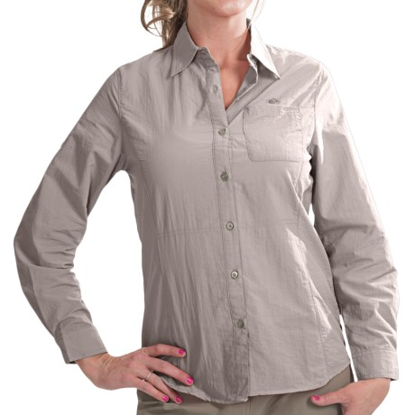 10,000 Feet Above Sea Level Nylon Shirt - UPF 40+, Roll-Up Long Sleeve (For Women)