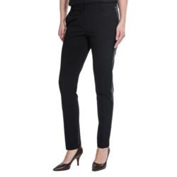Amanda + Chelsea Narrow Side Stripe Pants - Tapered Leg (For Women)