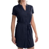 Carve Designs Logan Dress - V-Neck, Button Front, Short Sleeve (For Women)