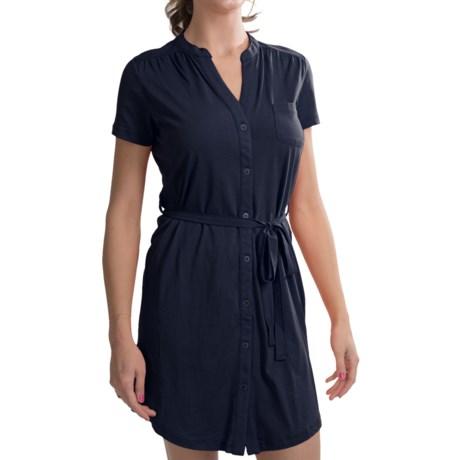 Carve Designs Logan Dress - V-Neck, Button Front, Short Sleeve (For Women)