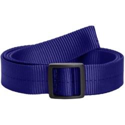 Bison Designs Slider Buckle Web Belt - 25mm (For Men and Women)