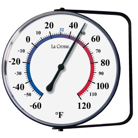 "La Crosse Technology 5"" Analog Thermometer with Mounting Bracket"