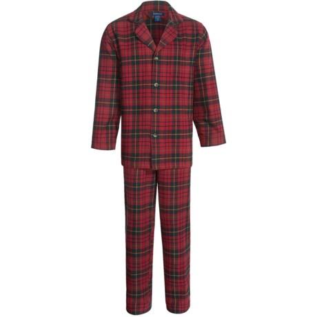 Pendleton Flannel Plaid Pajamas - Long Sleeve (For Men)