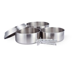 Solo Stove Stainless Steel 3-Pot Set