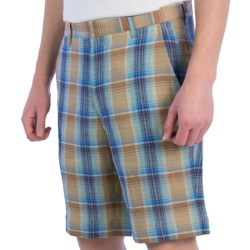 Corbin Plaid Shorts - Linen (For Men)