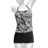 It Figures Tankini with Skirt Bottoms - Built-In Bra (For Women)