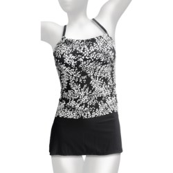 It Figures Tankini with Skirt Bottoms - Built-In Bra (For Women)