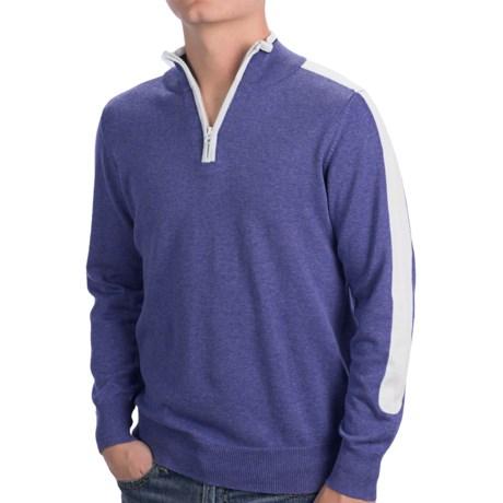Cotton Zip Neck Shirt - Long Sleeve (For Men)