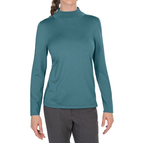 Pendleton Mock Turtleneck Sweater - Silk Blend (For Women)