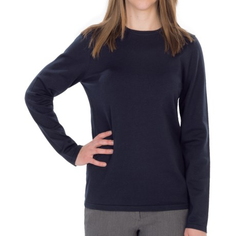 Pendleton Jewel Crew Neck Sweater - Silk Blend (For Women)
