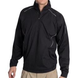 Golf Wind Shirt - Zip Neck, Long Sleeve (For Men)