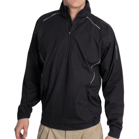 Golf Wind Shirt - Zip Neck, Long Sleeve (For Men)