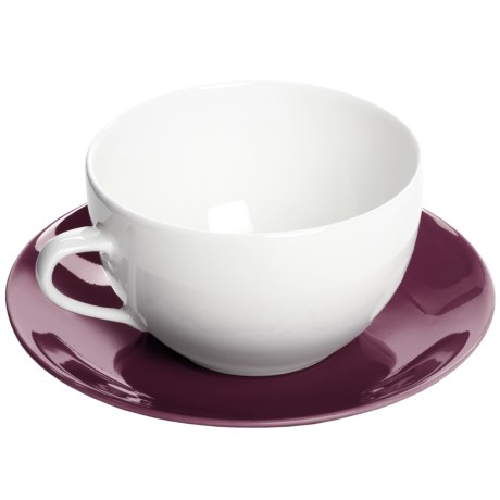 Apilco Colorama French Porcelain Coffee Cup and Saucer Set