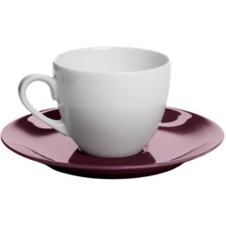 Apilco Colorama French Porcelain Espresso Cup and Saucer Set