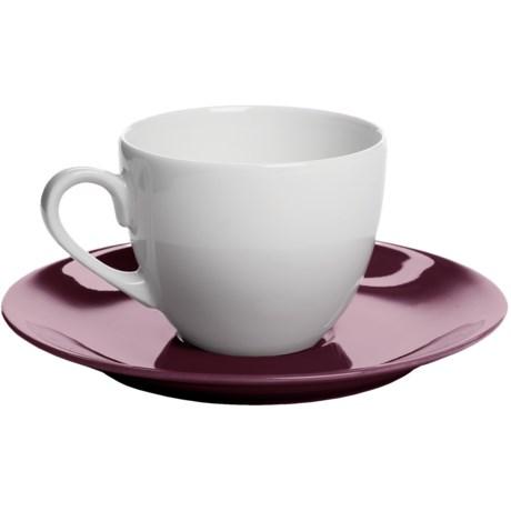 Apilco Colorama French Porcelain Espresso Cup and Saucer Set