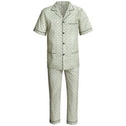 Cotton Pajamas - Short Sleeve (For Men)