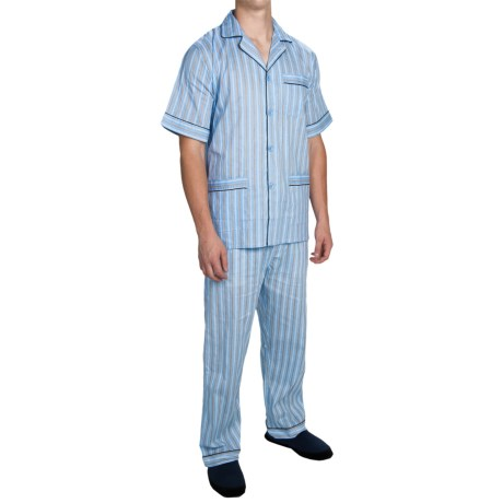 Cotton Pajamas - Short Sleeve (For Men)