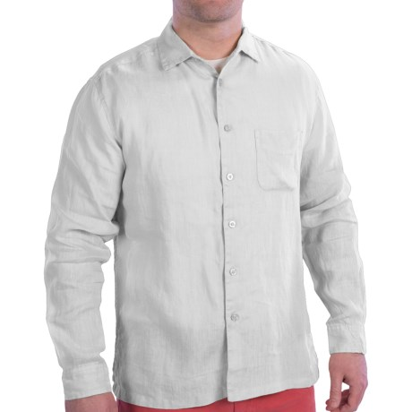 EQ by Equilibrio Garment-Washed Linen Shirt - Long Sleeve (For Men)