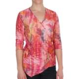 Sno Skins Shadow Stripe Surplice Shirt - Elbow Sleeve (For Women)