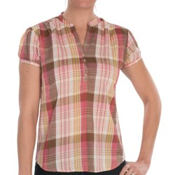 Nina Capri Cotton Voile Shirt - Short Sleeve (For Women)