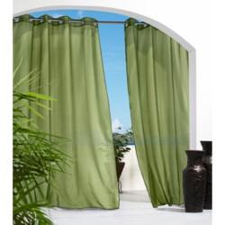 """Outdoor Decor Semi-Sheer Indoor/Outdoor Curtains - 108x84"""", Grommet-Top"""