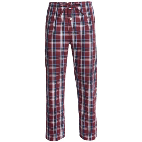 Tommy Hilfiger Plaid Sleep Bottoms - Cotton Poplin (For Men)