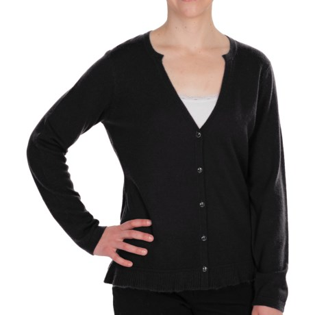 Pendleton Crème De Cashmere Cardigan Sweater - V-Neck (For Women)