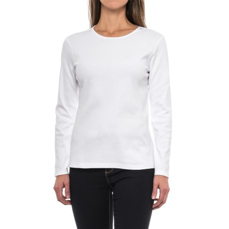 Pendleton Jewel Neck Cotton T-Shirt - Long Sleeve (For Women)