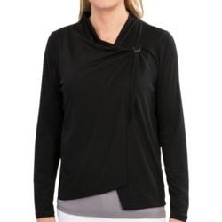 August Silk Knit Jacket - Sheer Back (For Women)