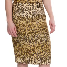 Pendleton Meru Skirt - Washable Silk (For Women) in Gold/Mink - Closeouts