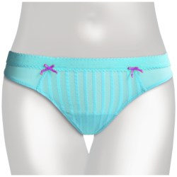 Betsey Johnson Stocking Stripe Panties - Low Rise, Thong (For Women)