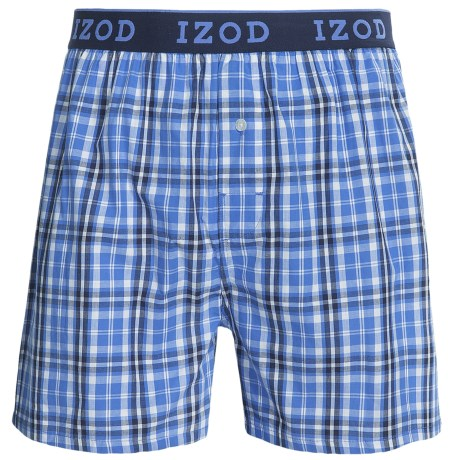 Izod IZOD Collegiate Woven Boxers - Low Rise, Cotton (For Men)