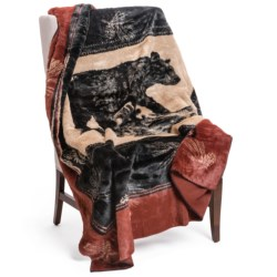 "Woolrich Pennland II Throw Blanket - Plush Faux Fur, 60x68"""