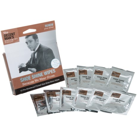 The Decent Man's Grooming Tools Shoe Shine Wipes - Set of 5
