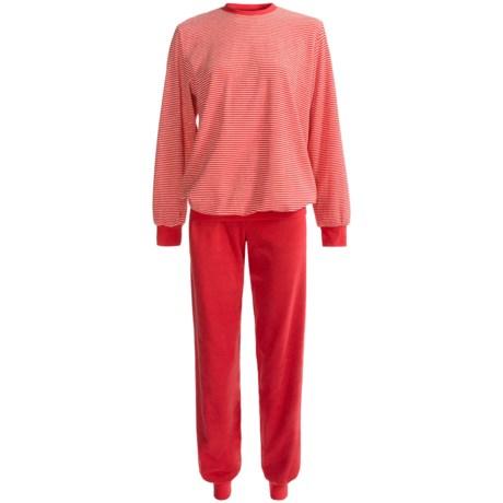 Calida Marina Cuffed Pajamas - Cotton Terry, Long Sleeve (For Women)