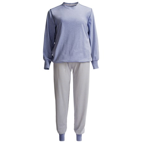 Calida Family Time Pajamas - Interlock Cotton, Long Sleeve (For Women)