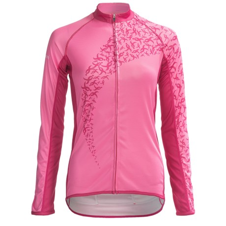 Canari Forever Pink Cycling Jersey - Full Zip, Long Sleeve (For Women)