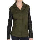 KUT from the Kloth Weston Military Jacket - Faux-Leather Sleeve (For Women)