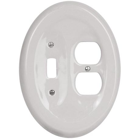 Lenape Classic Electrical Combination Switchplate - Porcelain