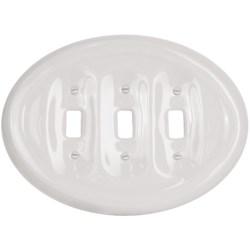 Lenape Classic Triple Light Switchplate - Porcelain