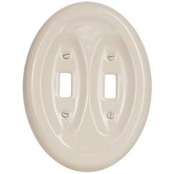 Lenape Classic Double Light Switchplate - Porcelain
