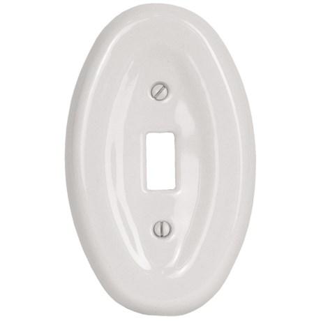 Lenape Classic Single Light Switchplate - Porcelain