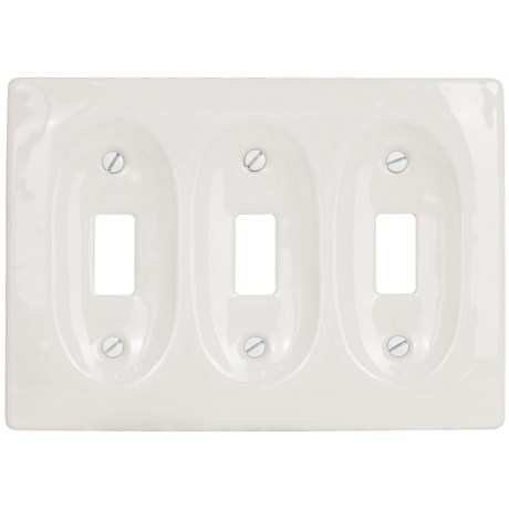 Lenape Le Carrousel Triple Light Rectangular Switchplate - Porcelain