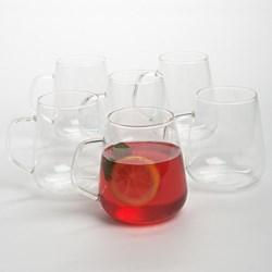 Bormioli Rocco Hot Drink DEA Mugs - Borosilicate Glass,16 fl.oz., Set of 2