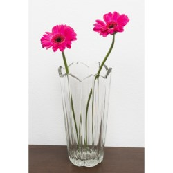 "Bormioli Rocco Corolla Glass Flower Vase - 9"""