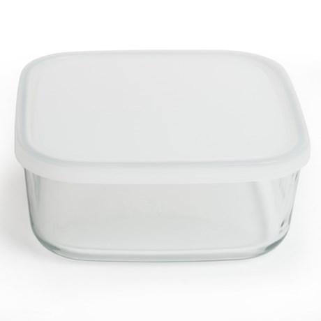 Bormioli Rocco Frigoverre Food Storage Container - Glass, Square, 54 oz.