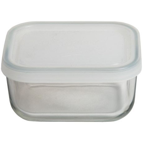 Bormioli Rocco Frigoverre Food Storage Container - Glass, Rectangular, 5 oz.
